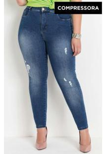Calça Jeans Compressora Sawary Plus Size