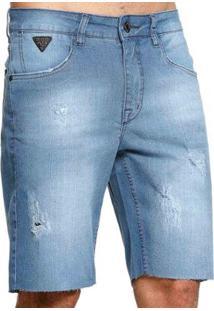 Bermuda Jeans Diferenciada Vlcs 18786 Masculina - Masculino-Azul