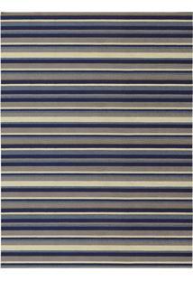 Tapete Metrópole Retangular Rústico (200X250 Cm) Azul