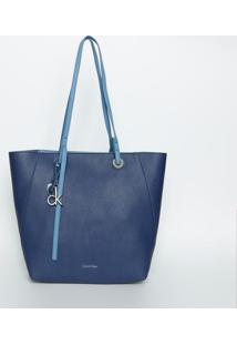 Bolsa Com Recortes & Amarração - Azul Marinho & Azul Clacalvin Klein