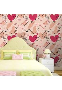 Papel De Parede Splash Of Love Pink