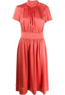 Calvin Klein Vestido Com Franzido - Rosa