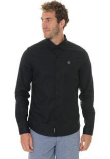 Camisa Timberland Cotton Essential Masculina - Masculino-Preto