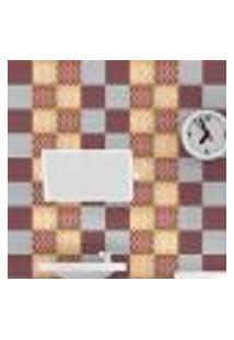 Papel De Parede Autocolante Rolo 0,58 X 3M - Azulejo Bolinhas Zigzag 286664774