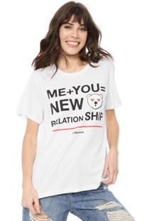 Camiseta Coca-Cola Jeans Relationship Branca - Branco - Feminino - Algodã£O - Dafiti