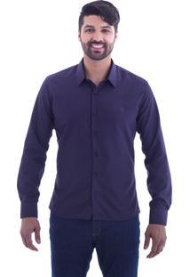 Camisa Slim Fit Live Luxor Vinho 2112 - P