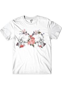 Camiseta Long Beach Caveiras Perfil Sublimada Masculina - Masculino