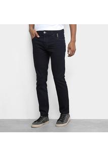 Calça Jeans Ellus 2Nd Floor Deep Sea Elastic Ii (Phil) Masculina - Masculino-Azul Escuro