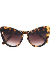 Stella Mccartney Eyewear Óculos De Sol Gatinho - Marrom