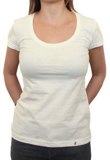 Camiseta Clássica Feminina Lisa Off White
