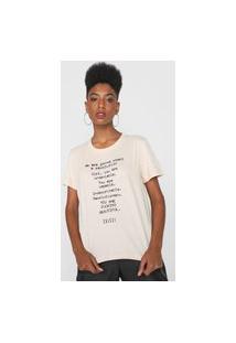 Camiseta Colcci Revolution Bege