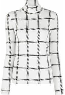Stella Mccartney Blusa Com Estampa Xadrez - Branco