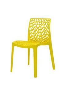Cadeira Gruver Em Polipropileno Cor Amarelo - 44964 Amarelo