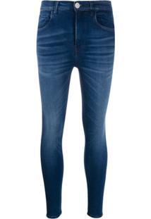 Haikure Calça Jeans Skinny Cintura Alta - Azul