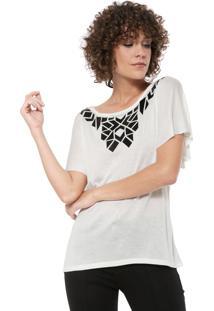 Blusa Ana Hickmann Geométrico Off-White
