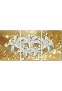 Quadro Oppen House 75X150Cm Canvas Flores De Midas Decorativo Interiores