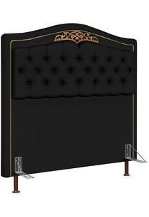 Cabeceira Cama Box Casal Queen 160Cm Imperial J02 Corano Preto - Mpoze