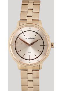 Relógio Analógico Mondaine Feminino - 53749Lpmvre2 Rosê - Único