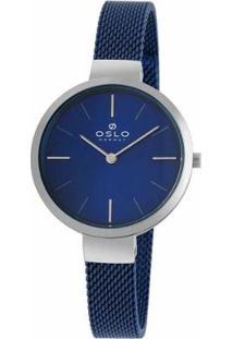 Relogio Oslo Analógico Oftsss9T0010 Feminino - Feminino-Azul