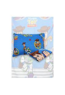 Jogo De Cama Solteiro Lepper 2Pçs Toy Story 1,40 M X 2,20 M Azul