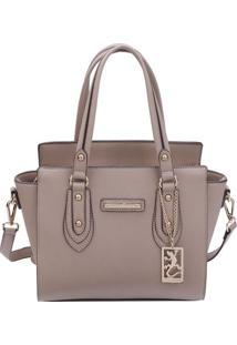 Bolsa Com Bag Charm- Bege- 23X26X14Cm- Fellipe Kfellipe Krein