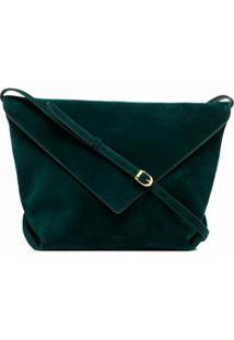 Khaite Bolsa Transversal Envelope De Camurça - Verde