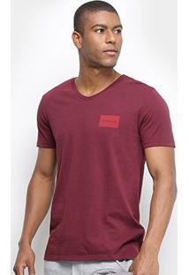Camiseta T-Shirt Calvin Klein Masculina - Masculino-Bordô