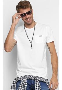 Camiseta Colcci Bolso Masculina - Masculino-Branco