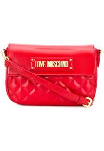 Love Moschino Bolsa Transversal Matelassê - Vermelho