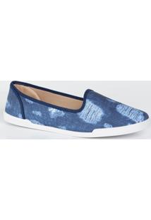 Sapatilha Feminina Slipper Jeans Moleca 5636100