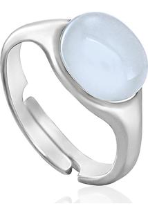 Anel Em Prata Com Pedra Sintetica - Frenesi 16