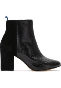 Blue Bird Shoes Bota Cano Curto Duo Couro - Preto