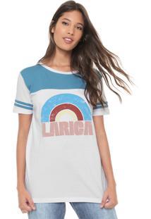 Camiseta Redley Lettering Branca/Azul