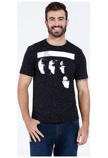 Camiseta Masculina Manga Curta The Beatles Marisa