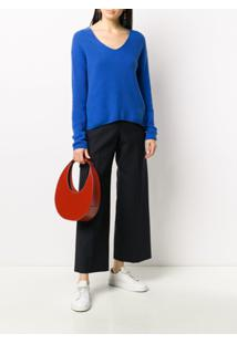 N.Peal Suéter Decote V - Azul