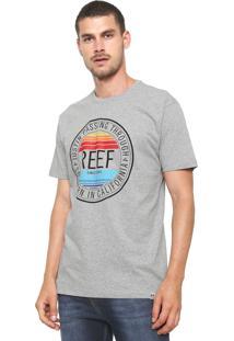Camiseta Reef Circle Beach Cinza