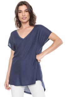 Blusa Hering Texturizada Azul-Marinho