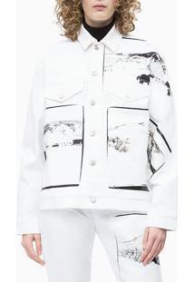 Jaqueta Color Ckj Fem Andy Warhol - Branco - P