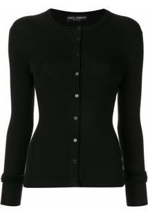 Dolce & Gabbana Cardigan Com Abotoamento Frontal - Preto
