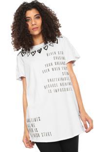 Camiseta My Favorite Thing(S) Alongada Branca