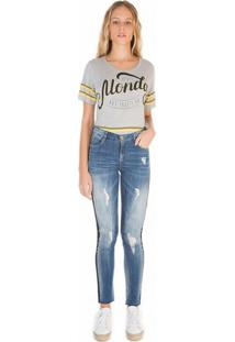 Calca Zinco Skinny Regular Cos Intermediario Reserva Lateral Jeans