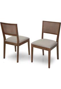 Cadeira De Jantar Lumia Com Tela - Ref 2084 (Kit C/ 2 Peças)