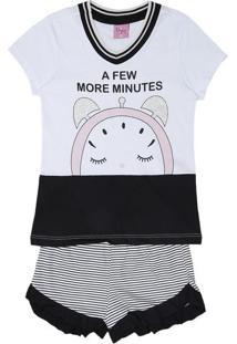 "Short Doll ""A Few More Minutes""- Branca & Pretaevanilda"