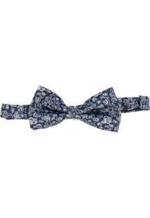 Etro Gravata Borboleta De Seda Com Estampa Paisley - Azul