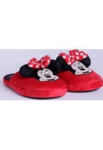 Pantufa Minnie Mouse Disney Feminina Vermelho