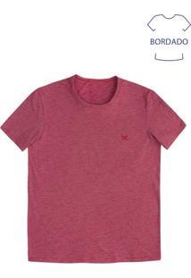 Camiseta Masculina Básica Em Flamê Na Modelagem Regular