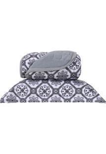 Cobre Leito Em Malha Premium Casal 145 Fios Com Porta Travesseiros Capadocia - Tessi - Tricae