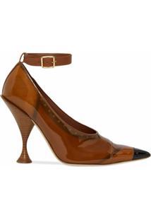 Burberry Sapato Com Efeito Envernizado - Marrom