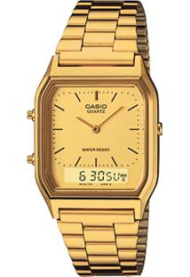 Relógio Casio Aq-230Ga-9Dmq Dourado