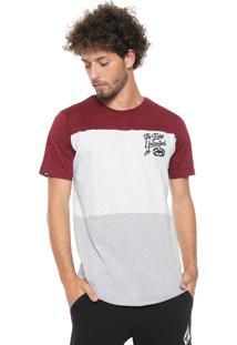 Camiseta Ecko Bordada Cinza/Vinho